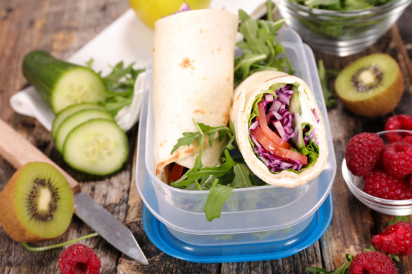 sandwich wrap with vegetables